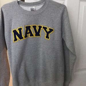 Navy grey sweatshirt Gildan